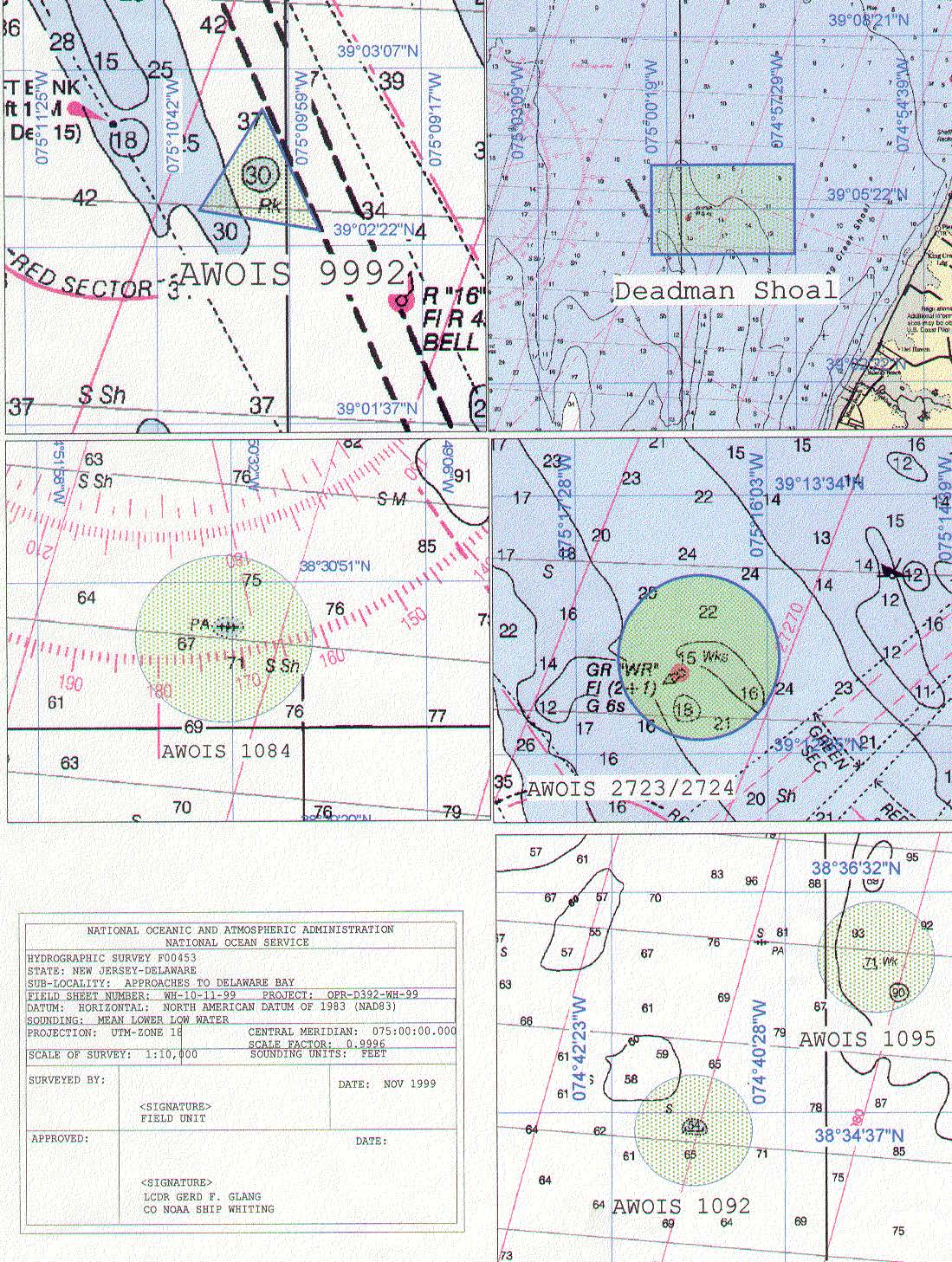 F00453 Nos Hydrographic Survey Delaware Bay And Approaches