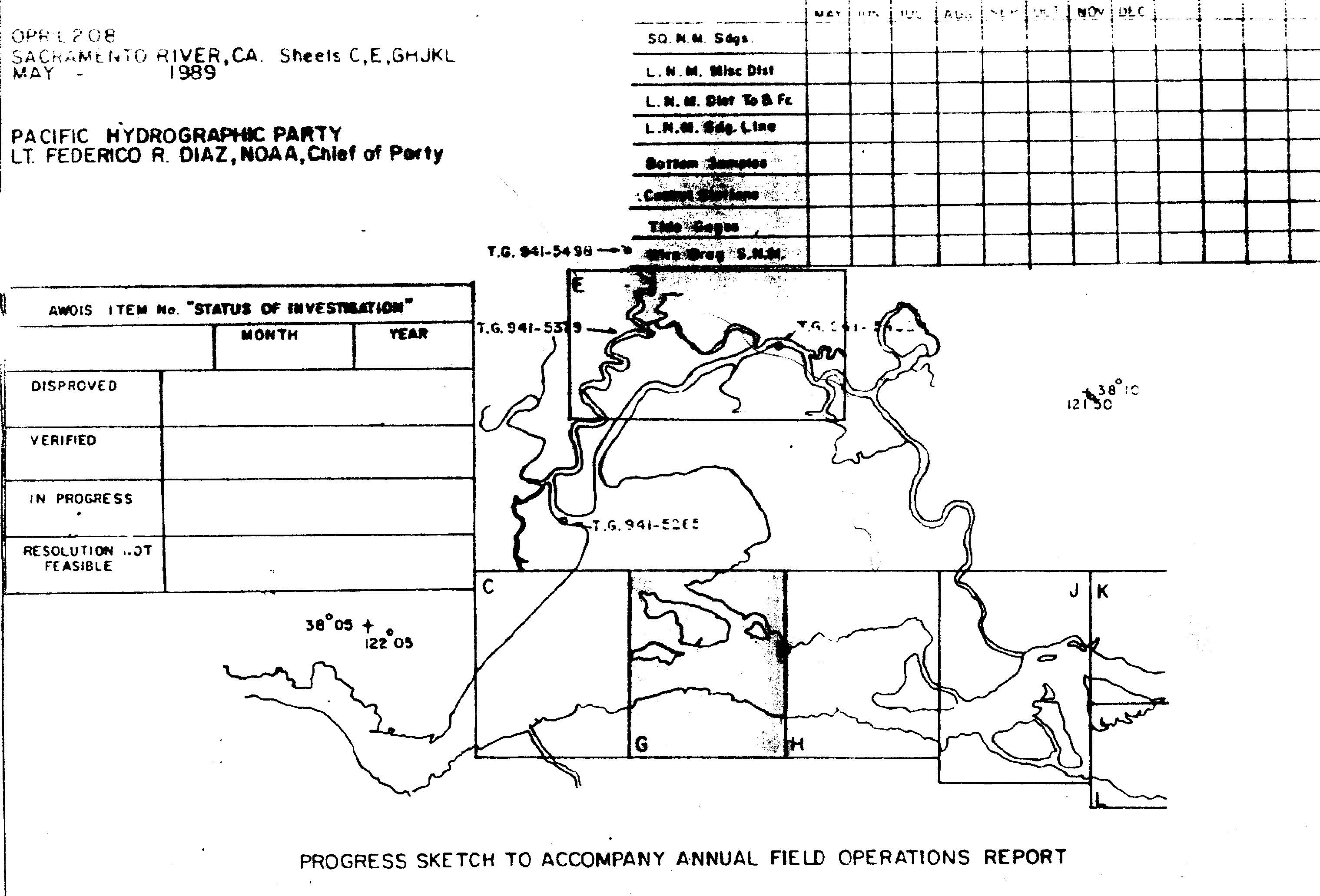 H10315 nos hydrographic survey sacramento river california 1989 graphic preview geenschuldenfo Image collections