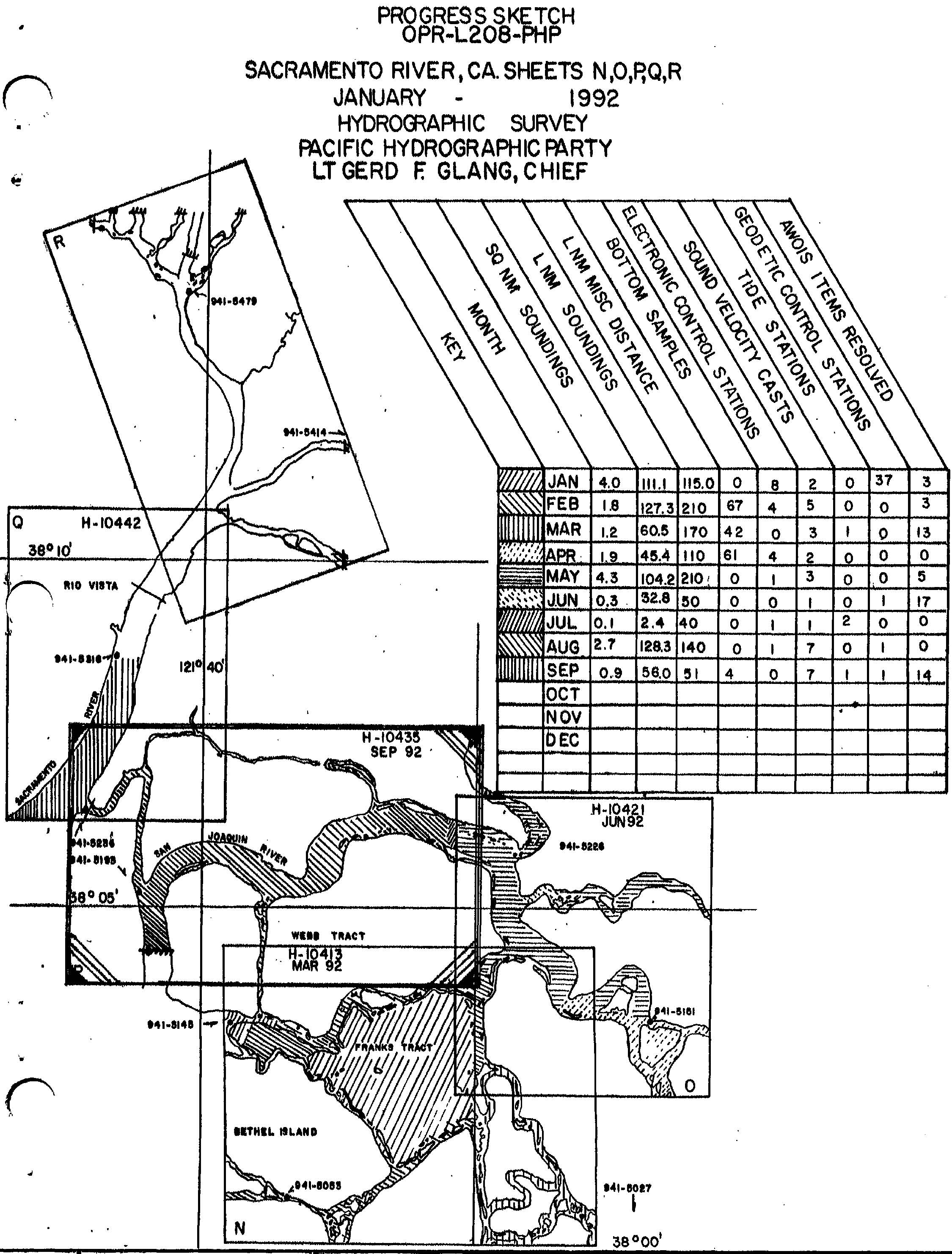 H10435 nos hydrographic survey sacramento river california 1992 graphic preview geenschuldenfo Image collections